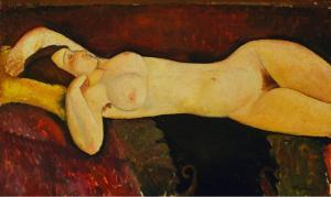 Modigliani_Amedeo-Reclining_Nude-c.1919-II