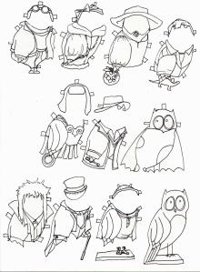 owlpaperdollsb&w